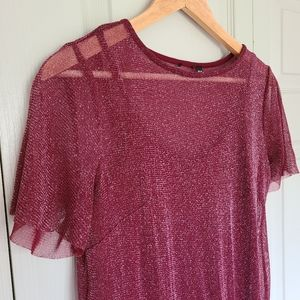 Short sleeve shimmer dress